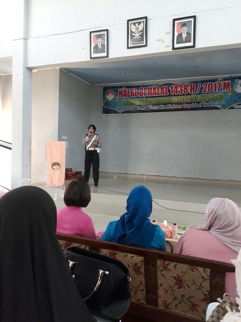 Acara Organisasi Wanita se-Kabupaten Kepahiang, Bhayangkari Hadirkan Polwan Lakukan Sosialisasi