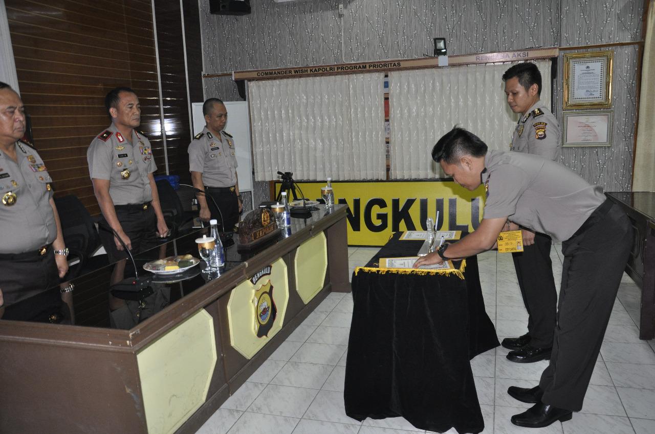 Kapolda Bengkulu Saksikan Penandatanganan Pakta Integritas SIP Sus Intelkam