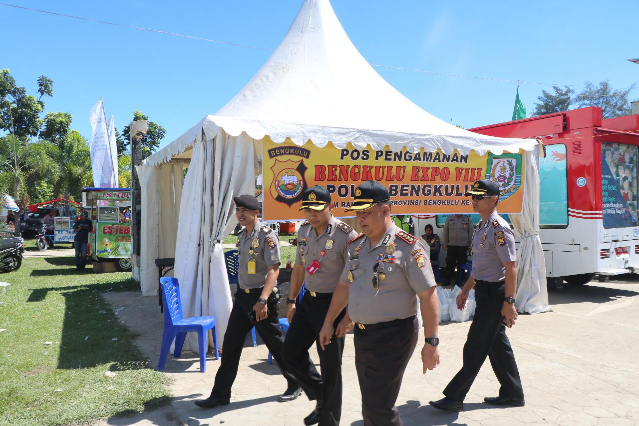 Bengkulu Expo, Polda Bangun Pos Pengamanan