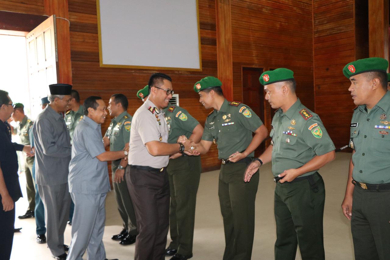 Sinergitas Antar Instansi, Wakapolda Bengkulu Hadiri Perayaan HUT Kodam II Sriwijaya di Korem 041 Gamas