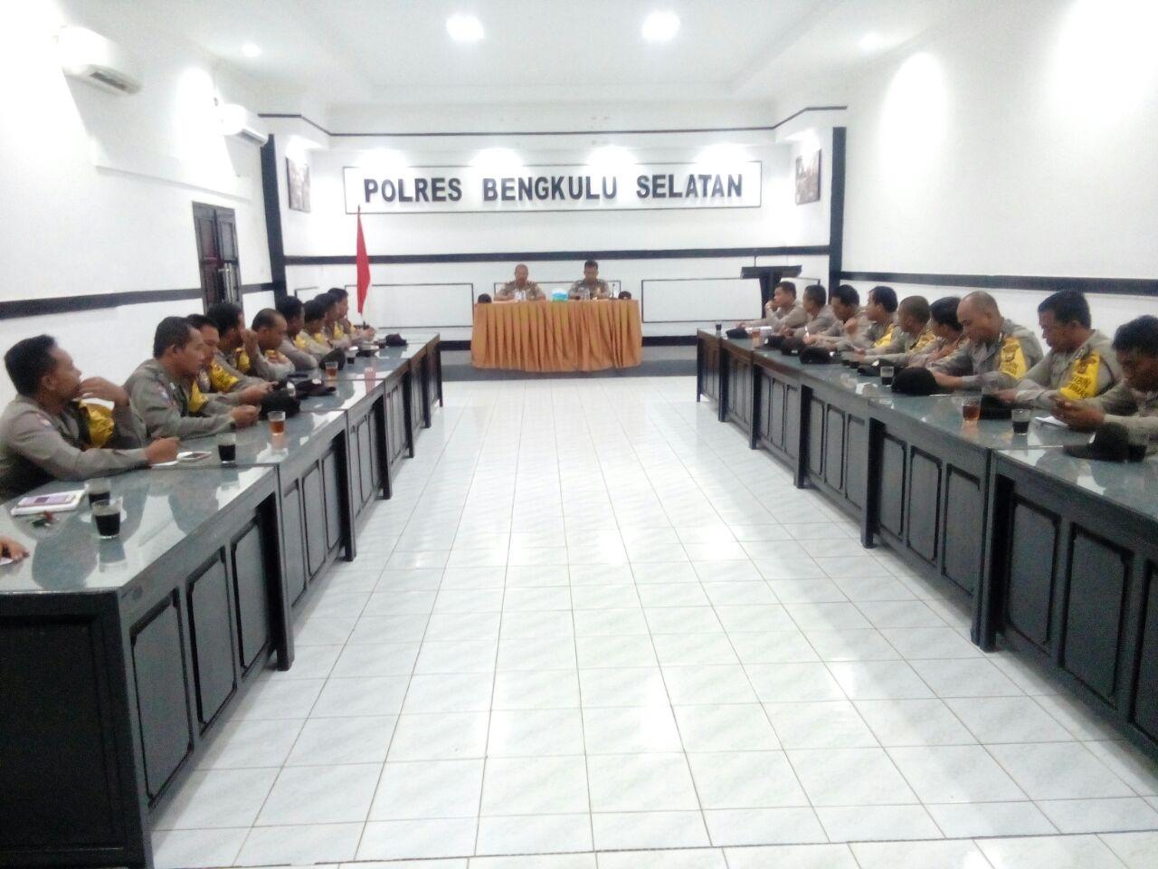 Sampaikan Arahan Kapolda Bengkulu, Sat Binmas Kumpulkan Bhabinkamtibmas