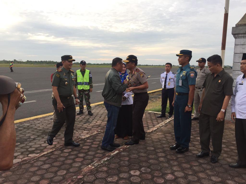 Bersama FKPD, Kapolda Bengkulu Sambut Pangdam II Sriwijaya