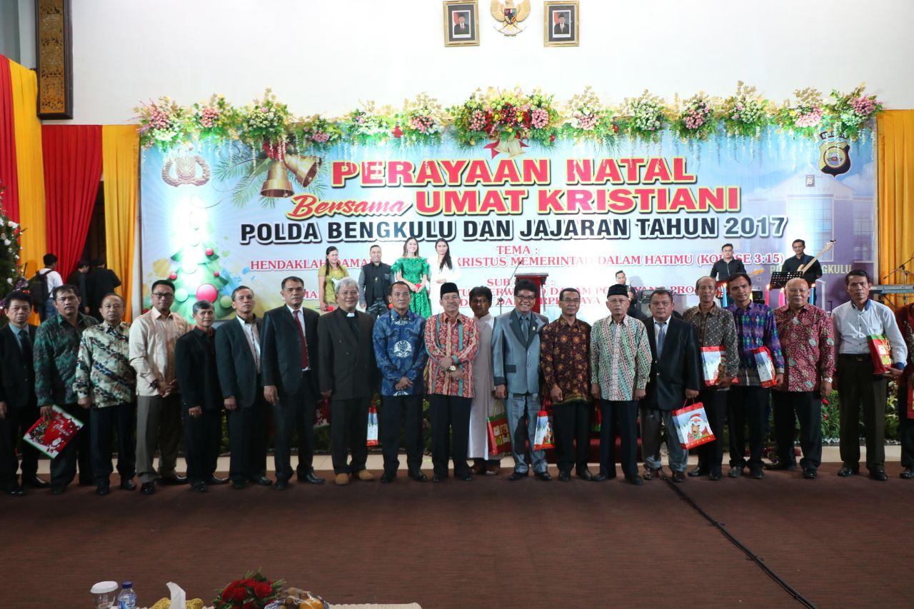 Perayaan Natal Polda Bengkulu dan Polres Jajaran