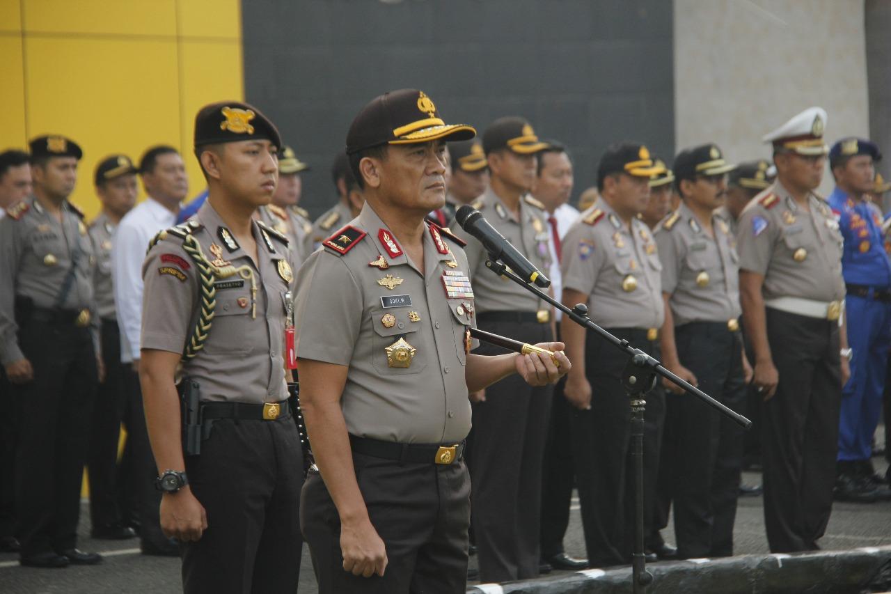 Pimpin Apel Pagi, Kapolda Bengkulu Sampaikan Perintah Presiden RI