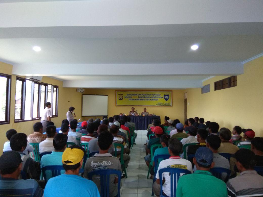 Harkamtibmas, Dit Binmas Polda Bengkulu Gelar Silaturahmi dan Pembinaan Nelayan