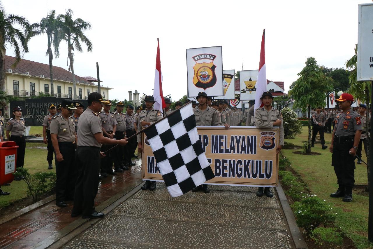 Tradisi Jalan Juang, Bintara Baru Dilepas Wakapolda Bengkulu Dari Rumah Bung Karno