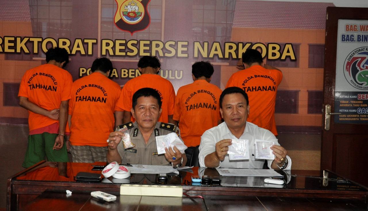 Lima Pengguna Narkoba Ditangkap Direktorat Narkoba