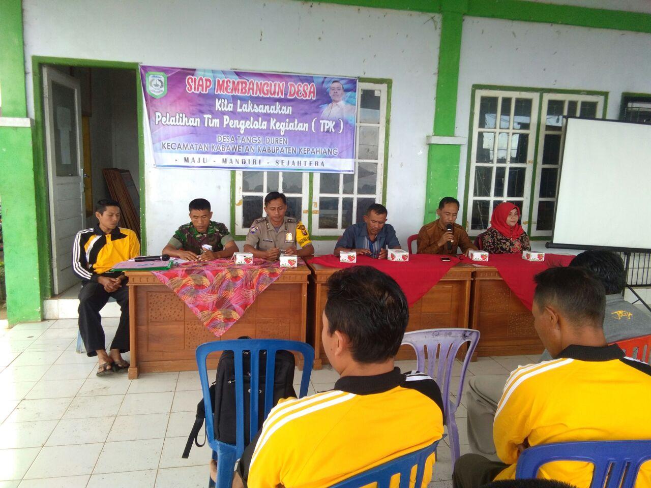Kompak,.. 3 Pilar Desa Tangsi Duren, Duduk Bersama Buka Pelatihan TPK