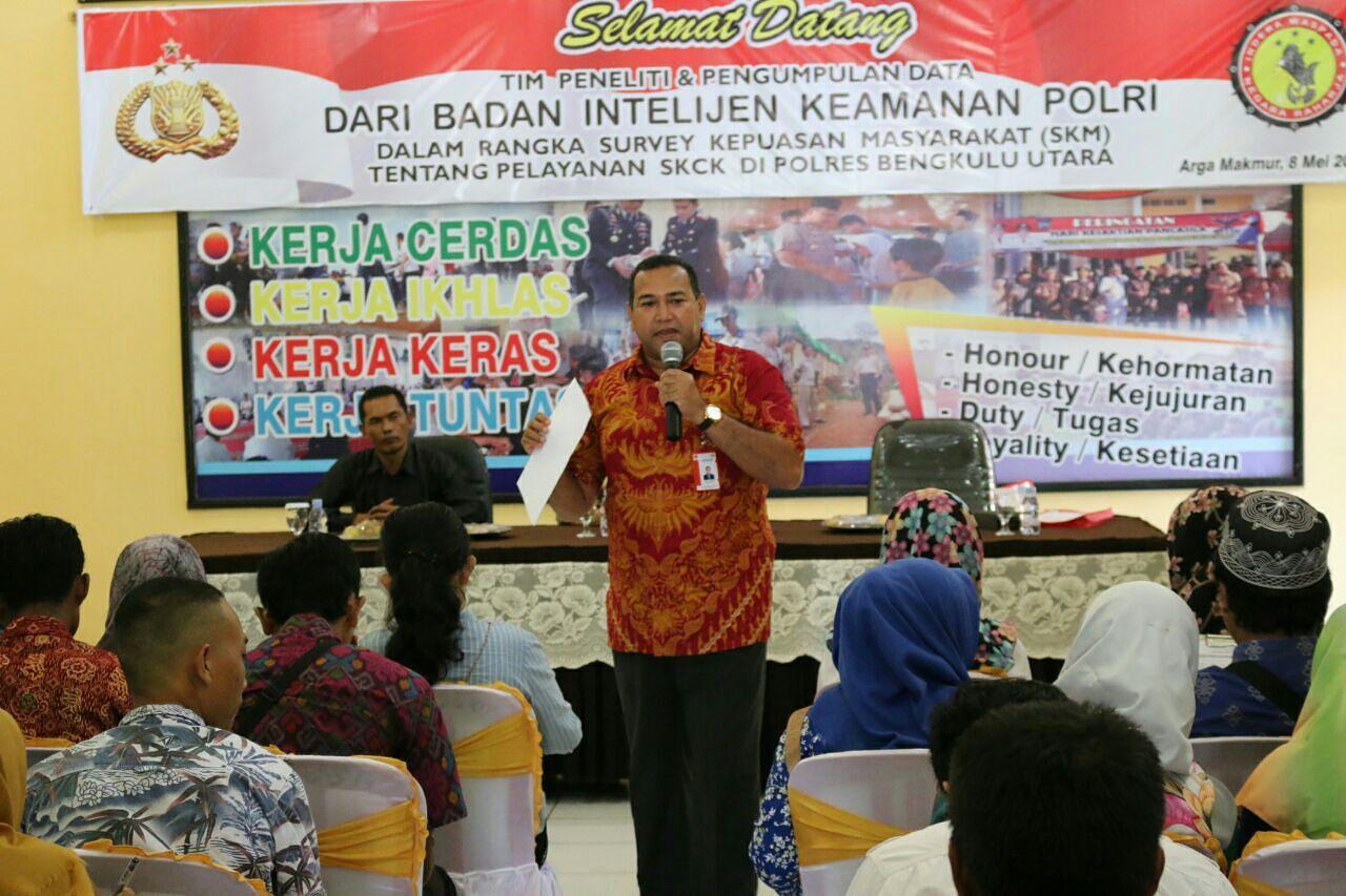 Polres Bengkulu Utara Kumpulkan Data Dalam Rangka Kepuasan Masyarakat Tentang Layanan SKCK
