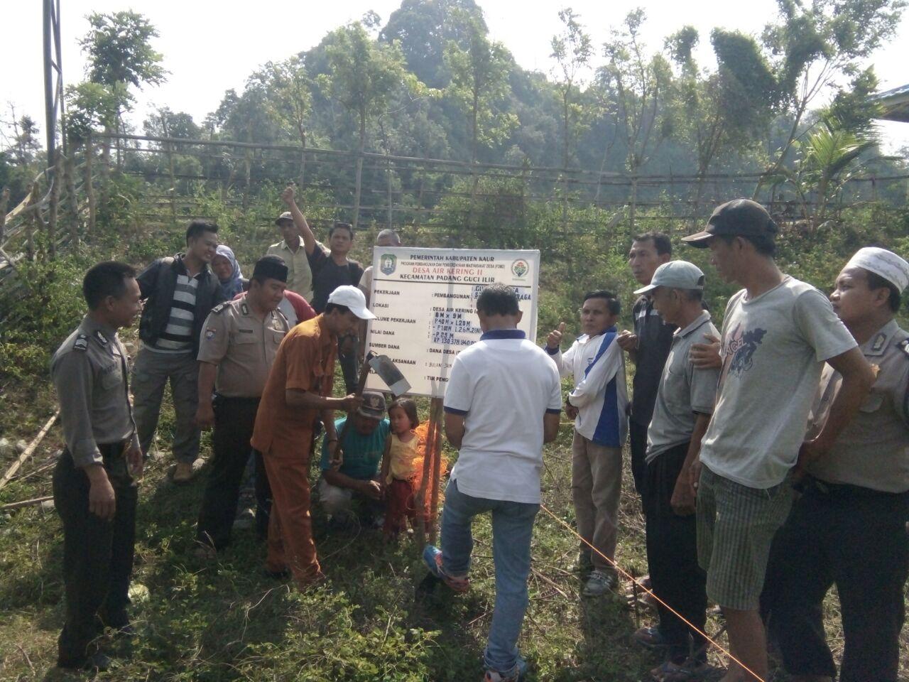 Titik Nol Pembangunan Gedung Desa Air Kering Kabupaten Kaur