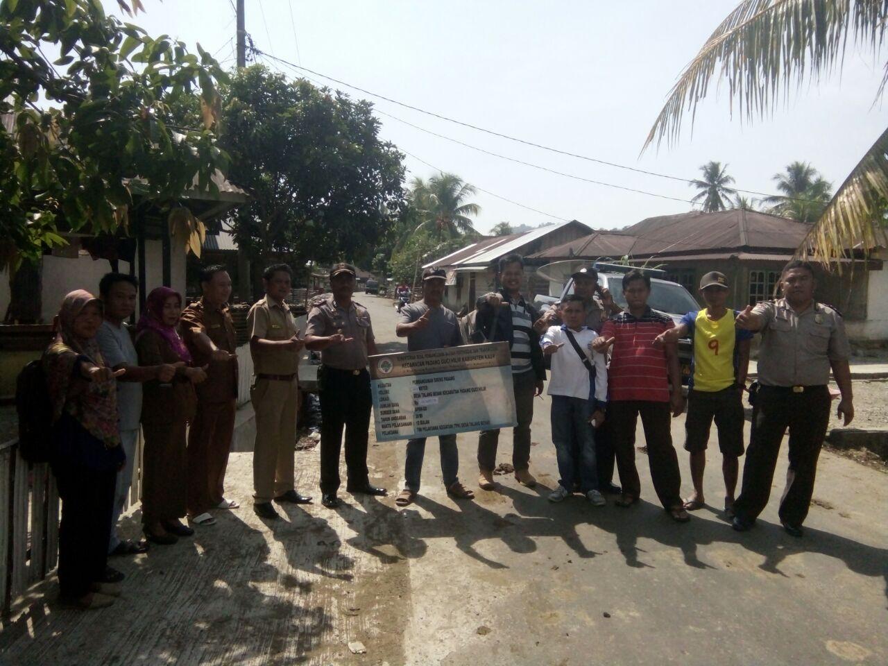 Titik Nol Pembangunan Siring Pasang Desa Talang Besar