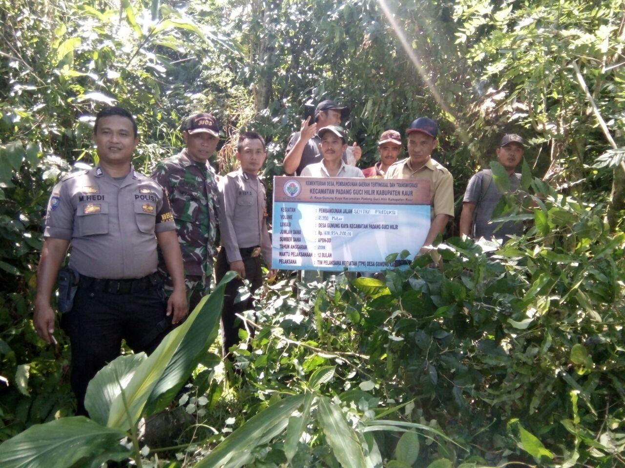 Titik Nol Pembangunan Dana Desa, Polsek Ajak Warga Lakukan Pengawasan