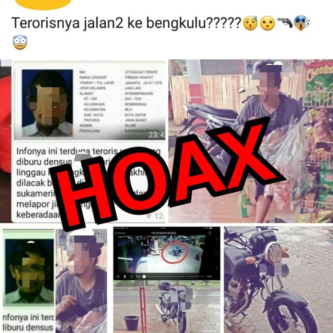 Kabid Humas Polda Bengkulu; Teroris Berkeliaran di Bengkulu Hoax