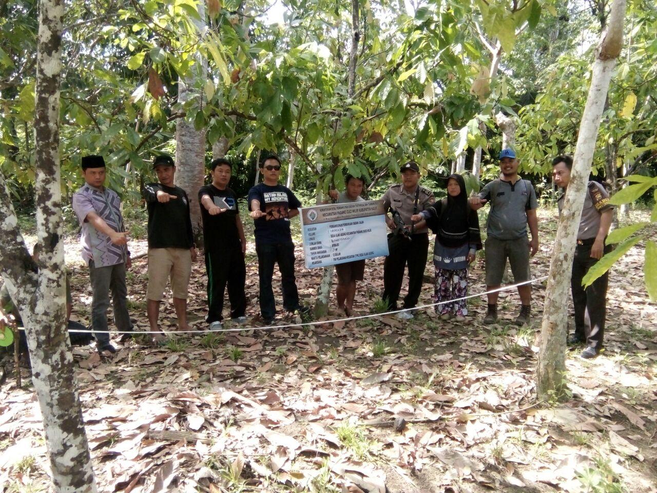 Pengawasan Dana Desa, Bhabinkamtibmas Hadiri Titik Nol Pembangunan