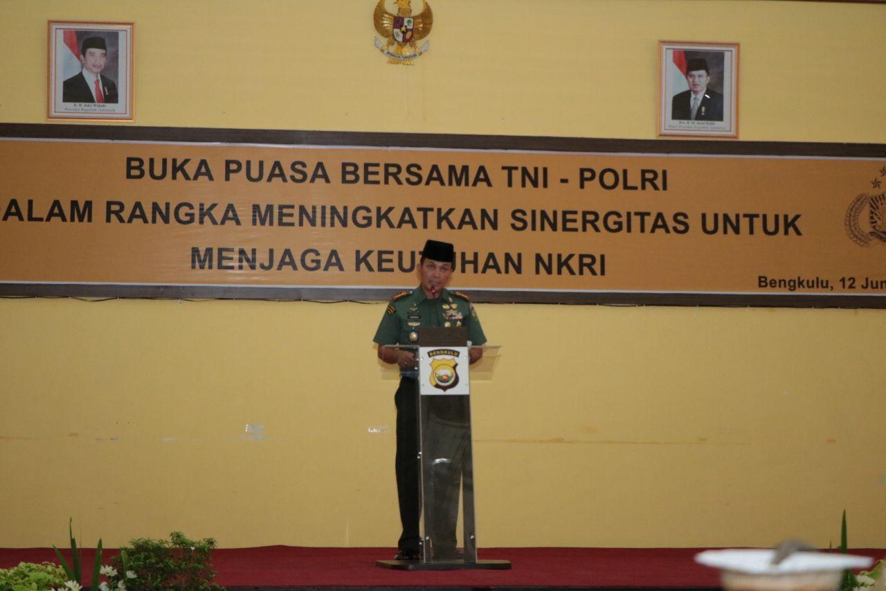 Danrem 041 GAMAS: Jangan Ragukan Sinergitas TNI-POLRI di Bengkulu