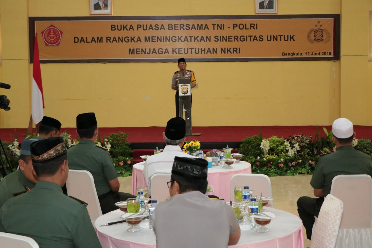Tingkatkan Sinergitas, Polda Bengkulu BukBer TNI Se-Provinsi Bengkulu
