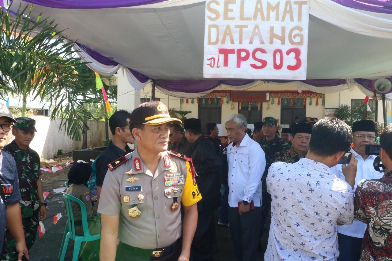 Kapolda Bengkulu dan FKPD pantau Pemungutan Suara Pilwakot Bengkulu