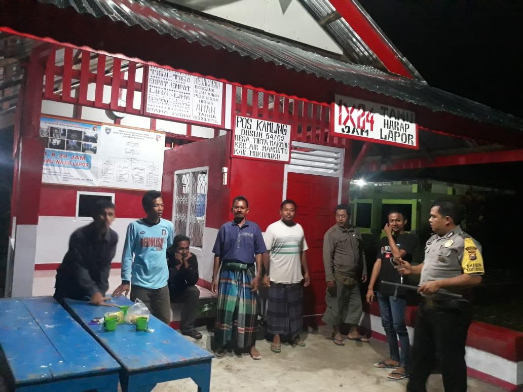 Ronda Malam dan Patroli Bersama Bhabinkamtibmas Polres Mukomuko