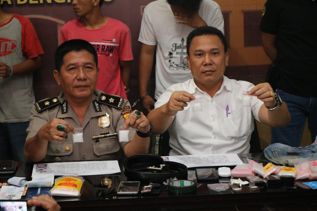 Ungkap Jaringan Antar Provinsi, Polda Bengkulu Amankan Sabu 30 Gram