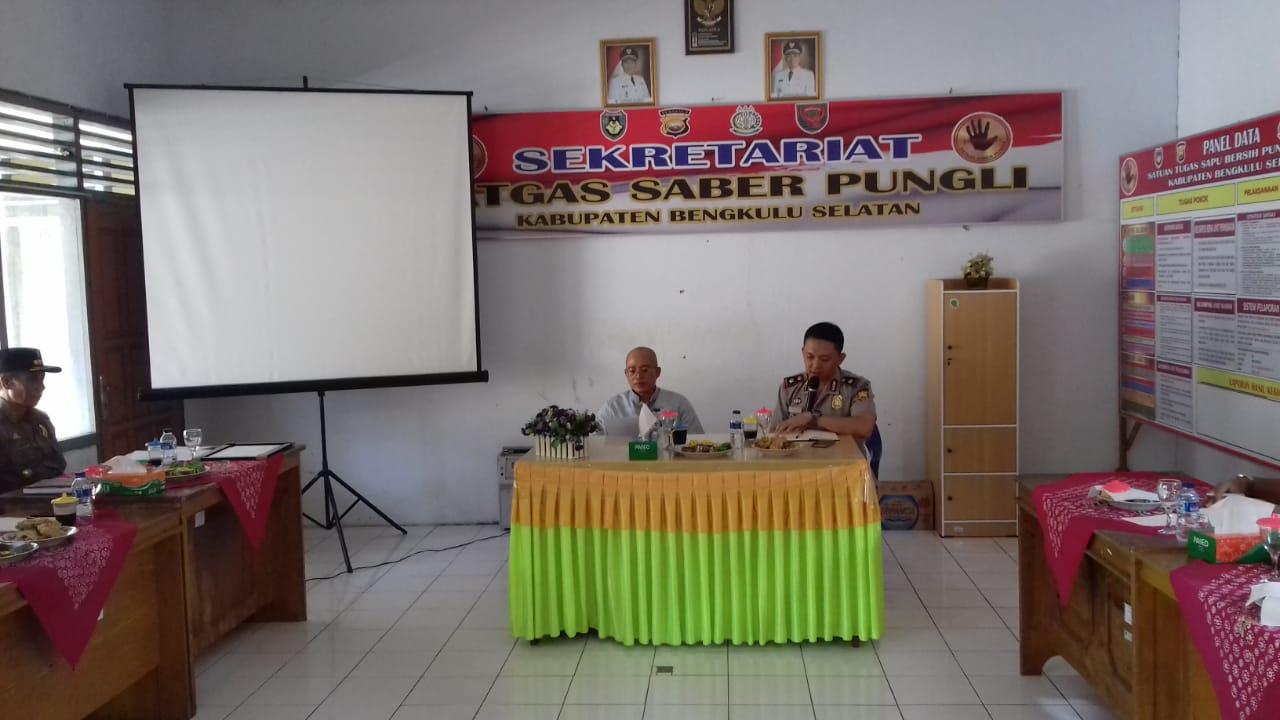 Cegah Pungli, Tim Saber Pungli Bengkulu Selatan Gelar Rapat Bersama