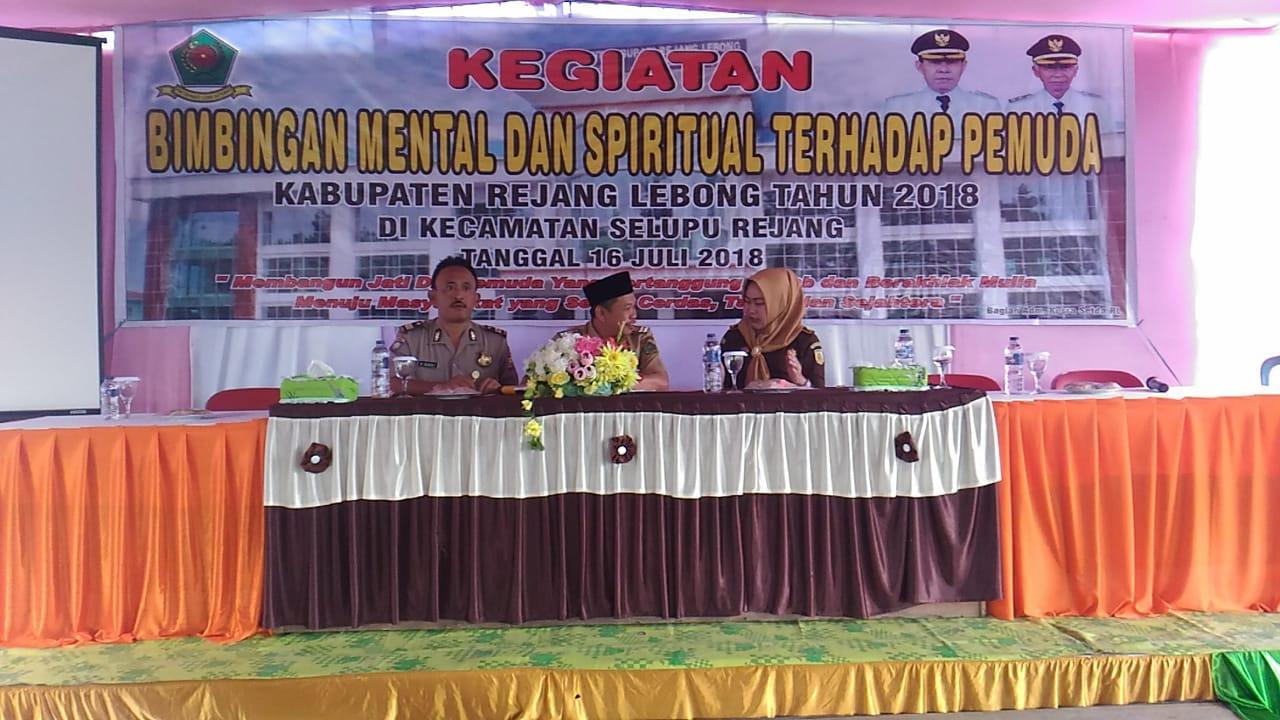 Bimbingan Mental dan Spiritual Pemuda Kabupaten Rejang Lebong