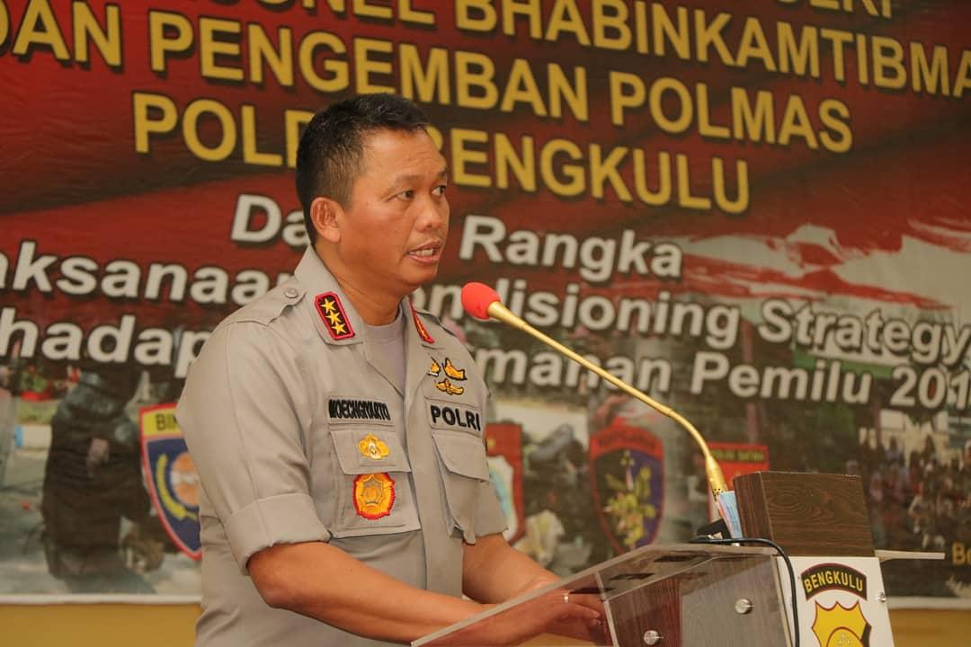 Jelang Pengamanan Pemilu, Kabaharkam Polri Berikan Arahan Kepada Bhabinkamtibmas Polda Bengkulu