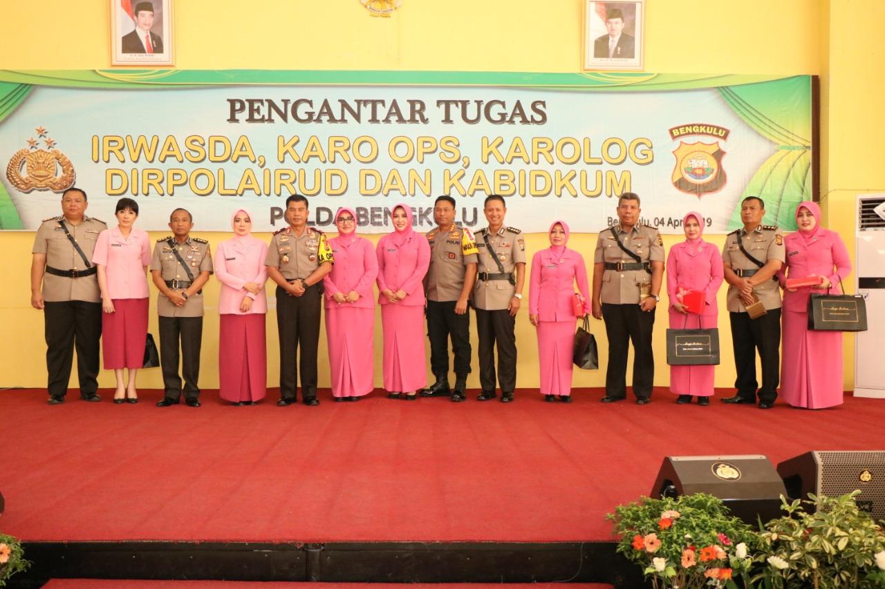 FOTO: Pisah Sambut Irwasda dan 4 Pejabat Utama Polda Bengkulu Lainnya