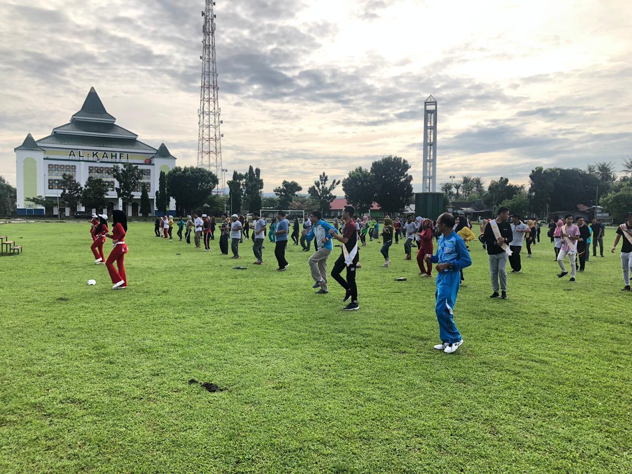 Sinergitas Antar Instansi, Kabupaten Kaur Gelar Senam Bersama