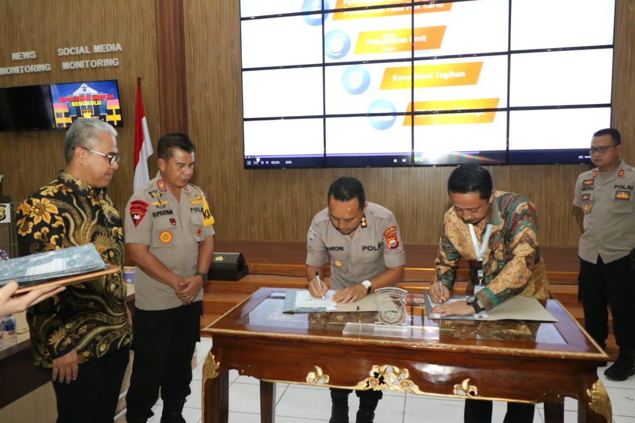 Polda Bengkulu Bersama BRI Teken MOU Penerbitan KKP