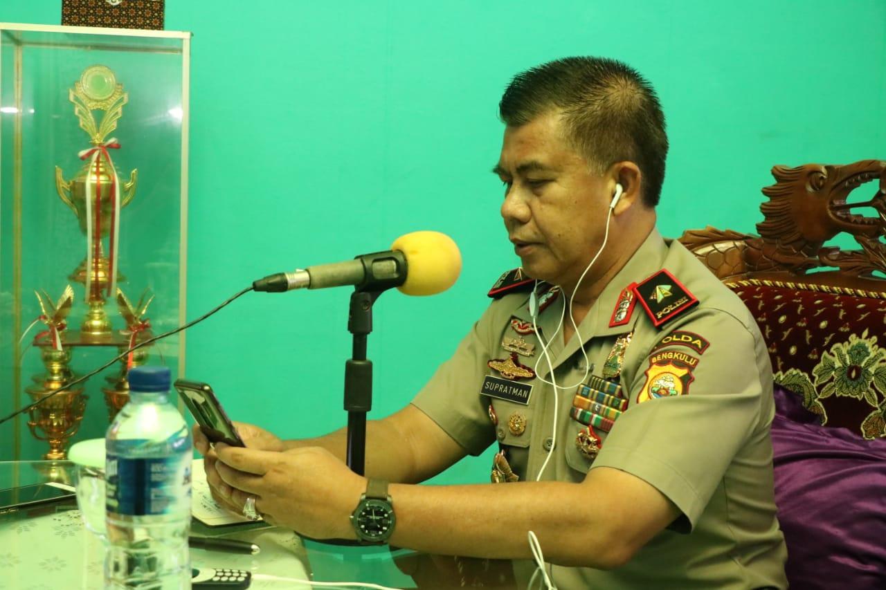 Dialog di Radio Santana, Kapolda Bengkulu Ucapkan Terimakasih Kepada Masyarakat