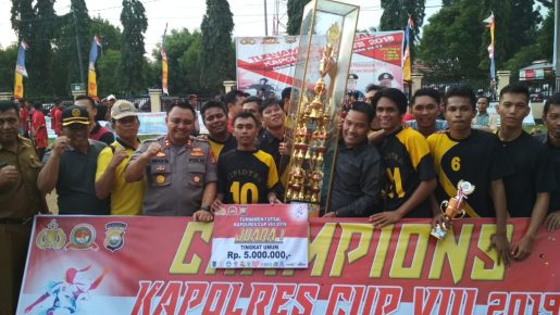 Tournament Kapolres Cup Usai, SMKN 2 Juara 1