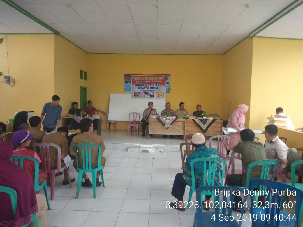 Cegah Pungli, Polsek Batik Nau Gelar Sosialisasi