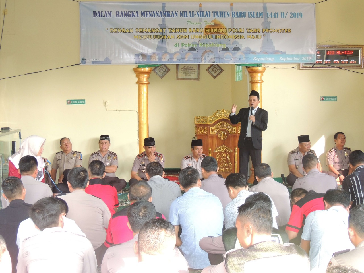 Peringati Tahun Baru Islam 1 Muharam 1441 H, Polres Kepahiang Gelar Pengajian