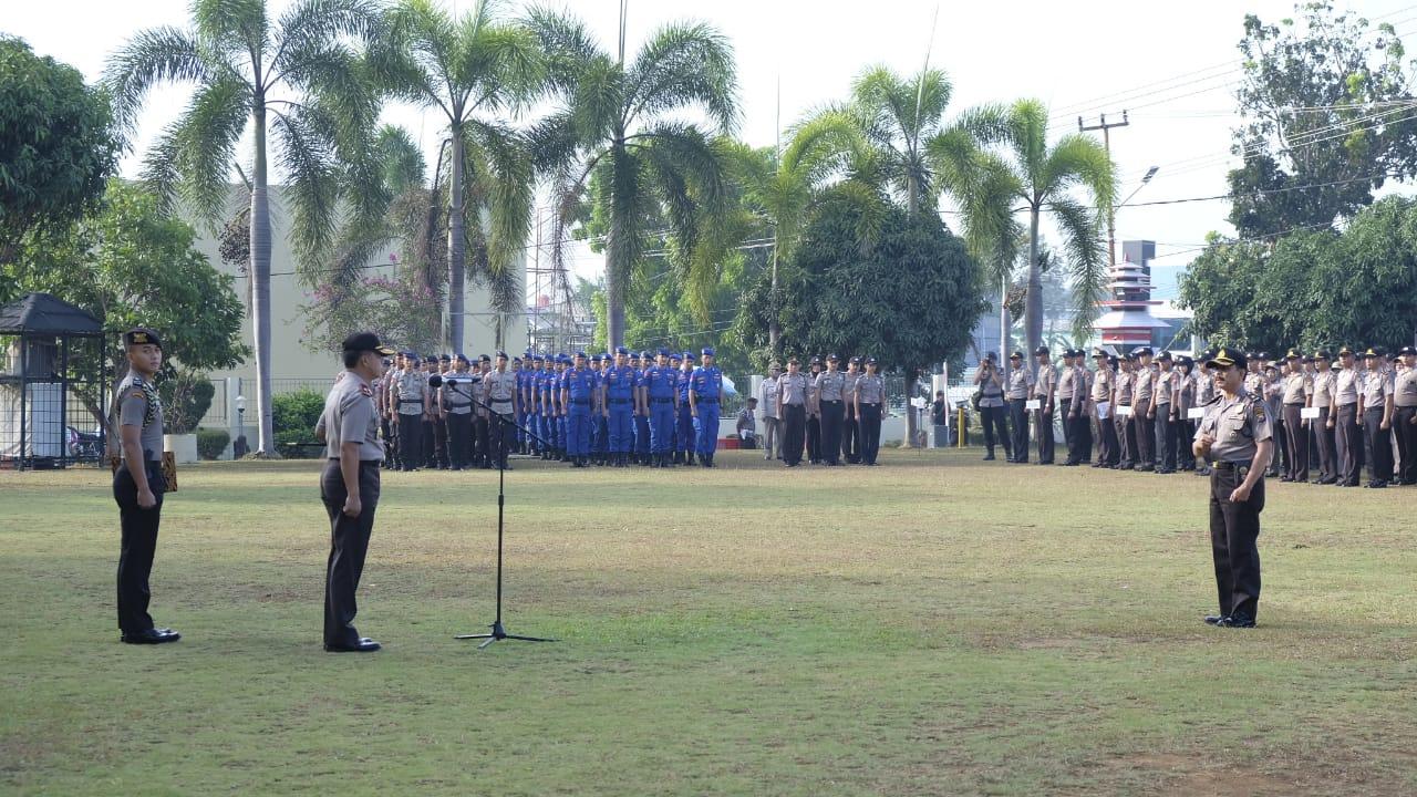 Pimpin Apel Pagi, Kapolda Bengkulu Ucapkan Terimakasih Kepada Anggotanya