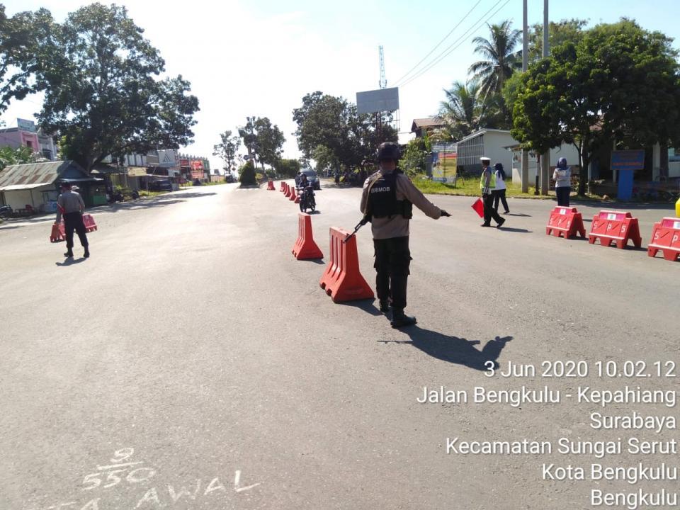 Satuan Brimob Polda Bengkulu Tim Penanganan Penyebaran Covid 19 Wilayah Kota Bengkulu
