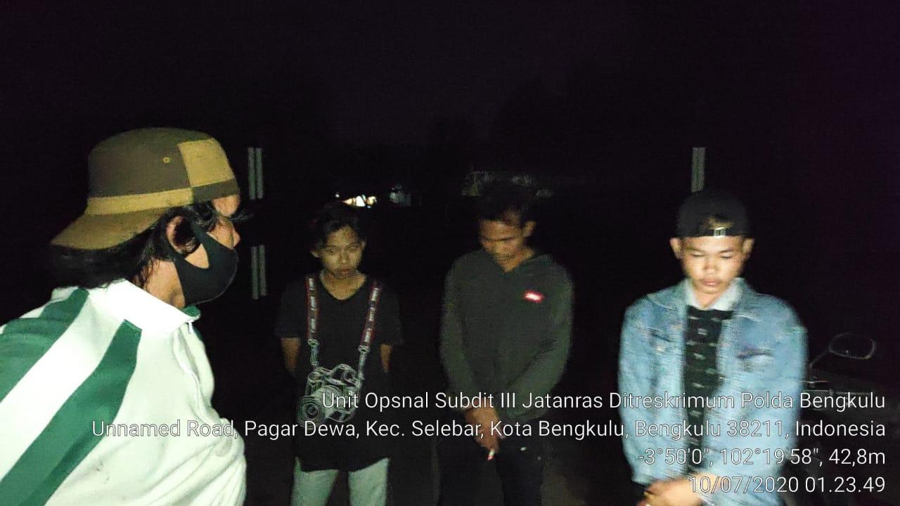 Cegah Terjadinya Tindakan Pidana, Unit Opsnal Subdit Jatanras Polda Bengkulu Gencar Lakukan Patroli
