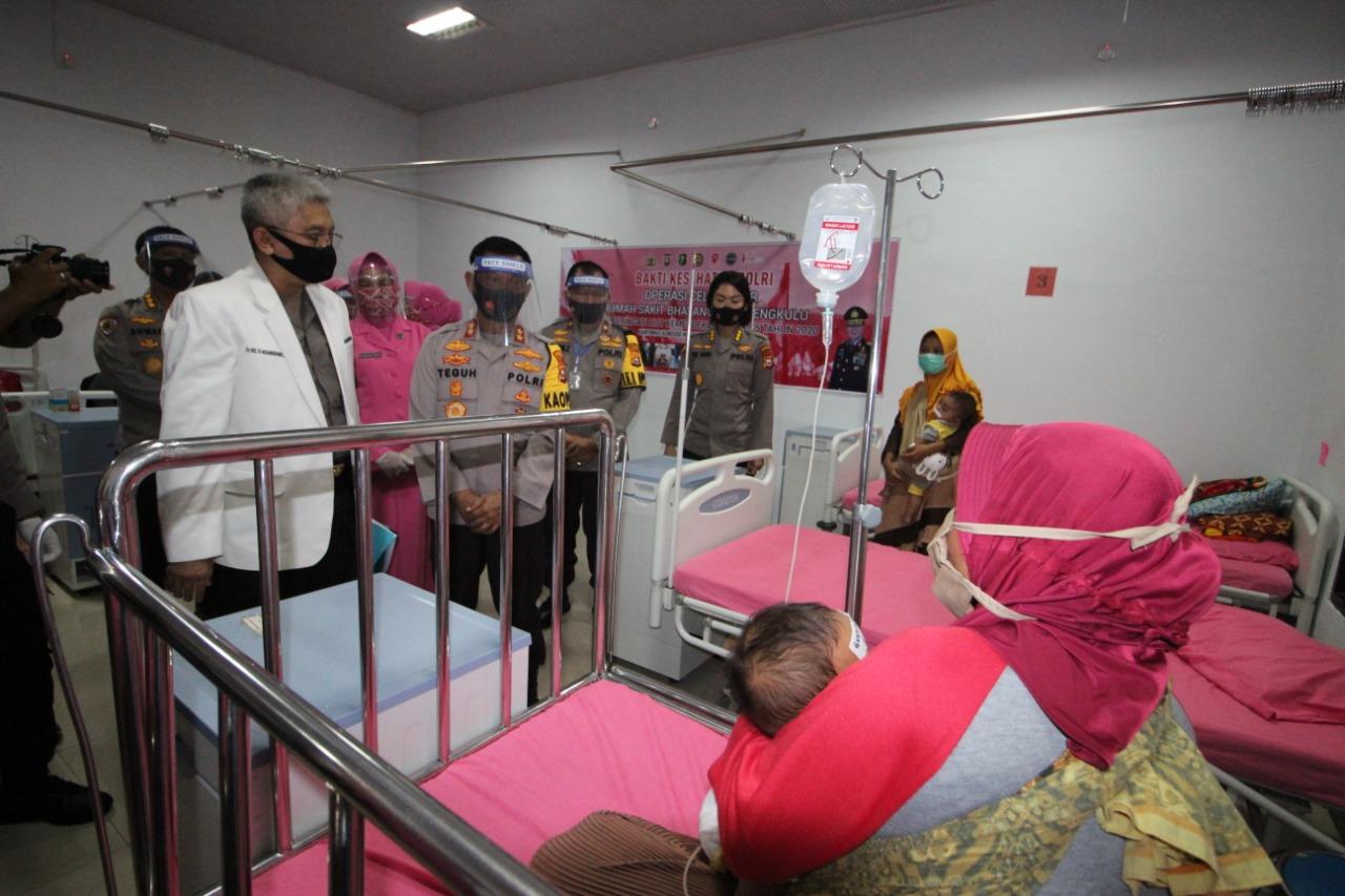 Sambut HUT RI Ke-75, Polda Bengkulu Gelar Bakti Kesehatan Operasi Bibir Sumbing Gratis
