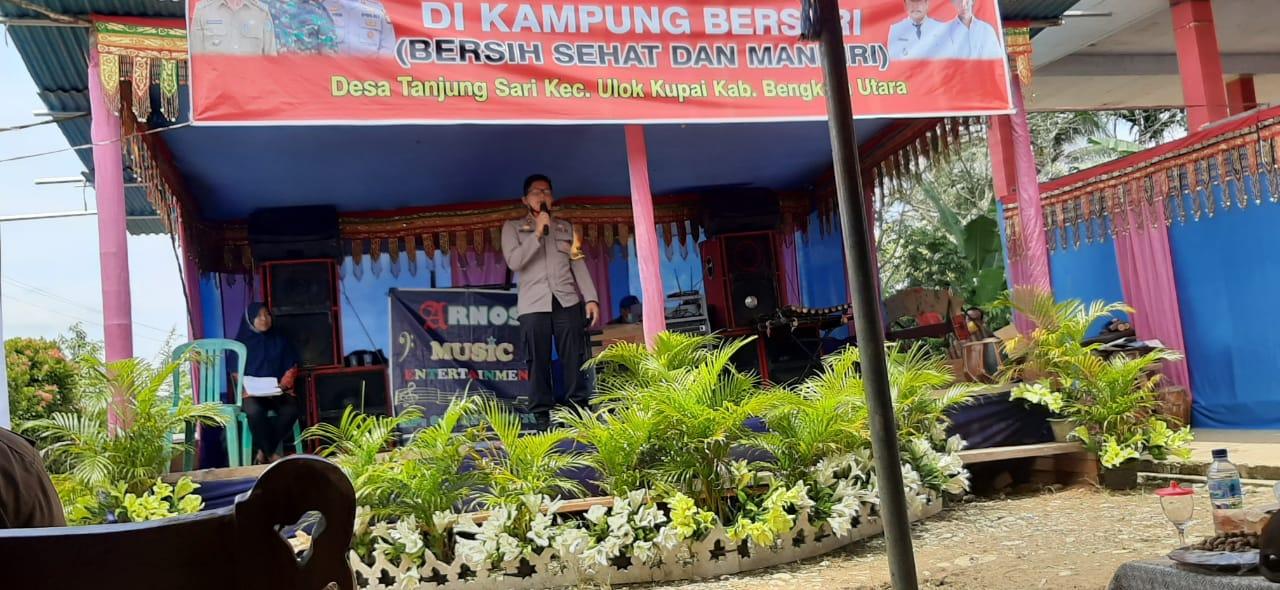 Bersama Pemda dan Kodim, Polres Bengkulu Utara Launching Kampung Berseri
