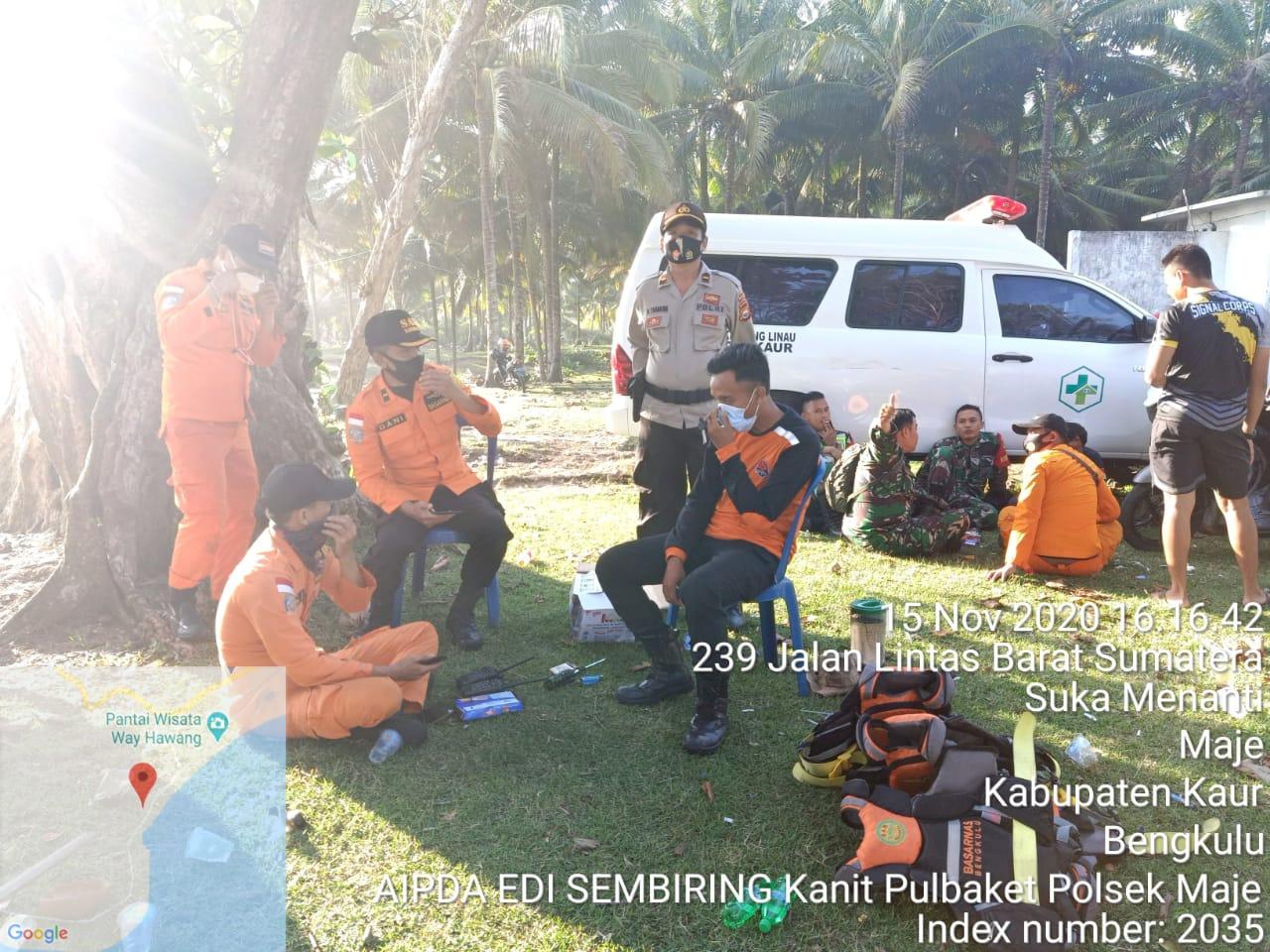 Bantu Pencarian Warga Tenggelam, Polres Kaur Turunkan Anggota