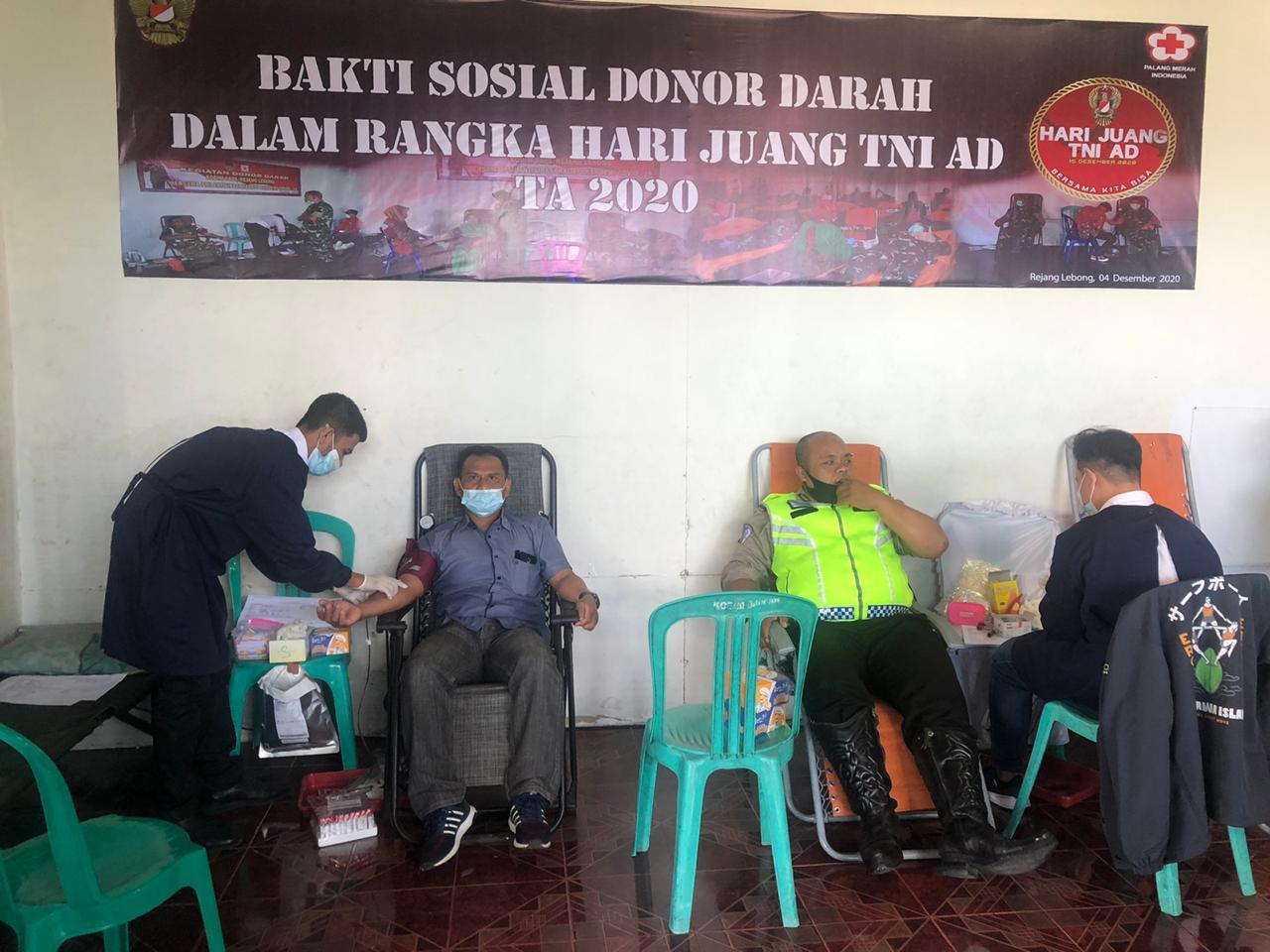 Sinergitas TNI/POLRI, Polres RL Ikut Donor Darah Peringati Hari Juang TNI AD