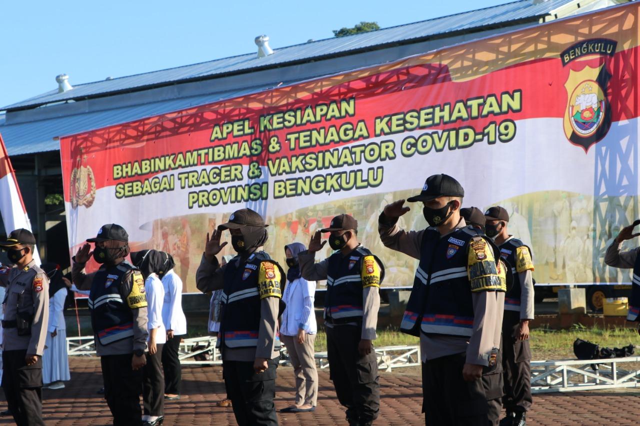 Sesuai Perintah kapolri, Bhabinkamtibmas Polda Bengkulu dan Bhabinsa Koren 041/ GAMAS Bersinergi Sukseskan Vaksinasi
