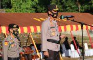 Kapolda Bengkulu Pimpin Apel Serentak Kesiapan Bhabinkamtibmas dan Nakes Sebagai Tracer dan Vaksinator