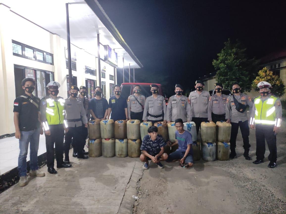 Timbun 640 Liter Solar Subsidi, 2 Warga Lubuk Pinang Terjaring Razia Gabungan Polres Mukomuko