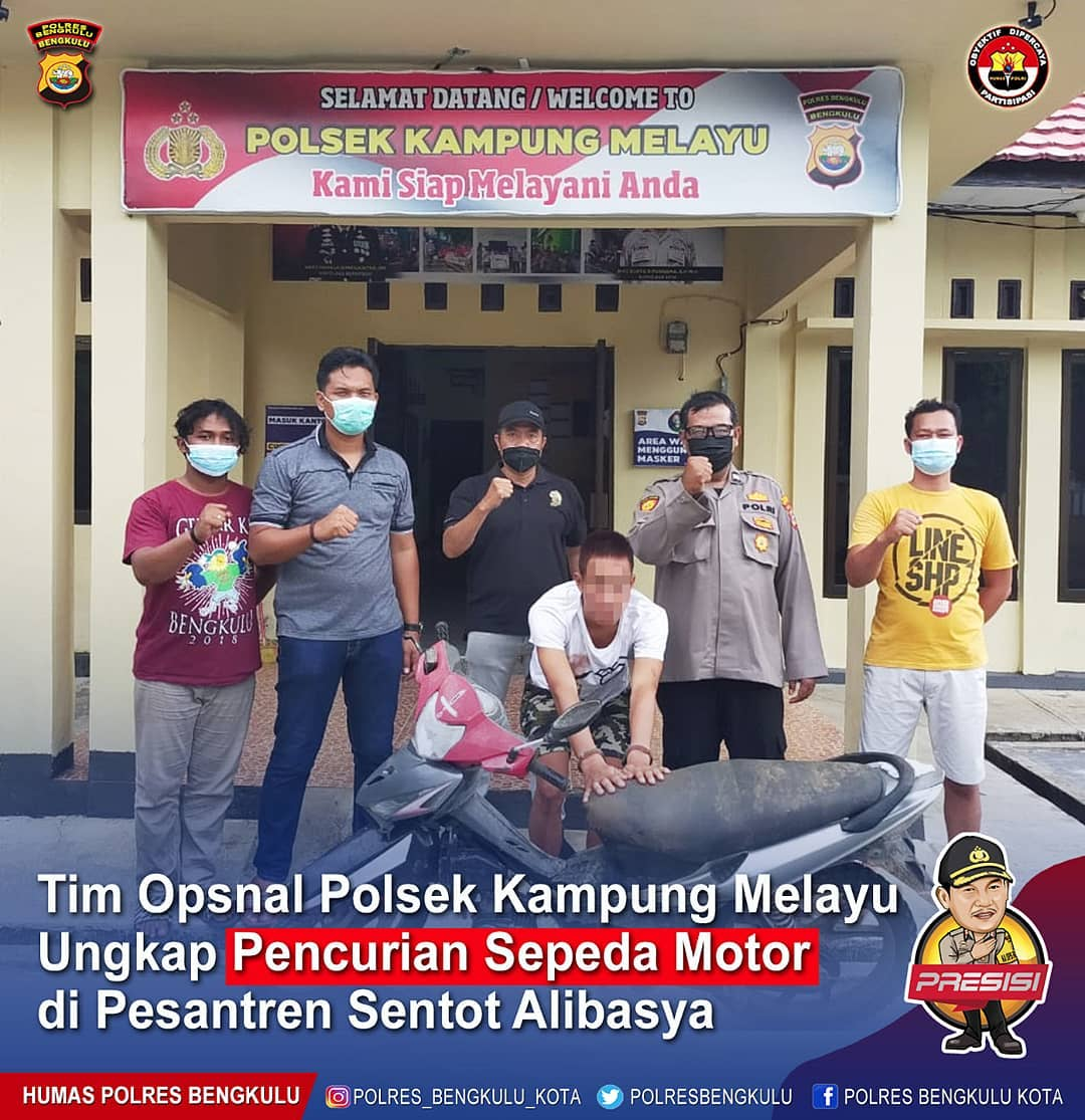 Ungkap Curanmor, Tim Opsnal Polsek Kampung Melayu Amankan Pelaku di Seluma