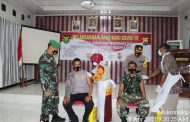 Sinergitas TNI/POLRI, Kodim dan Polres Mukomuko Gelar Vaksin Bersama