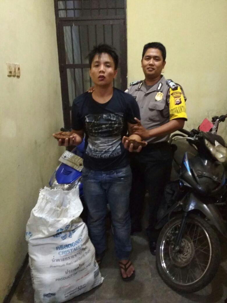 Habis Bobol Warung, Pemuda Diamankan Polisi