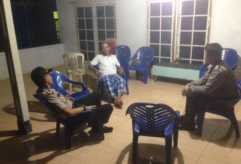 Kapolsek Sukaraja Kunjungi Desa Kayu Arang Dan Desa Lawang Agung