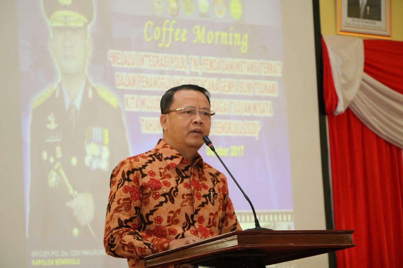 """Sinergi Polda Bengkulu dan Pemda Serta Instansi Terkait Menghadapi Bengkulu Yang Termasuk """"Zona Merah Bahaya Bencana"""""""