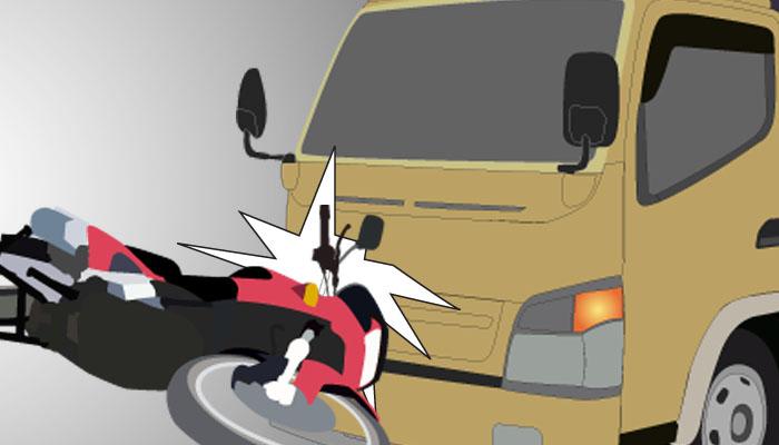 Tabrak Truk Sedang Berhenti, Pemuda Bunga Mas Dilarikan ke RS