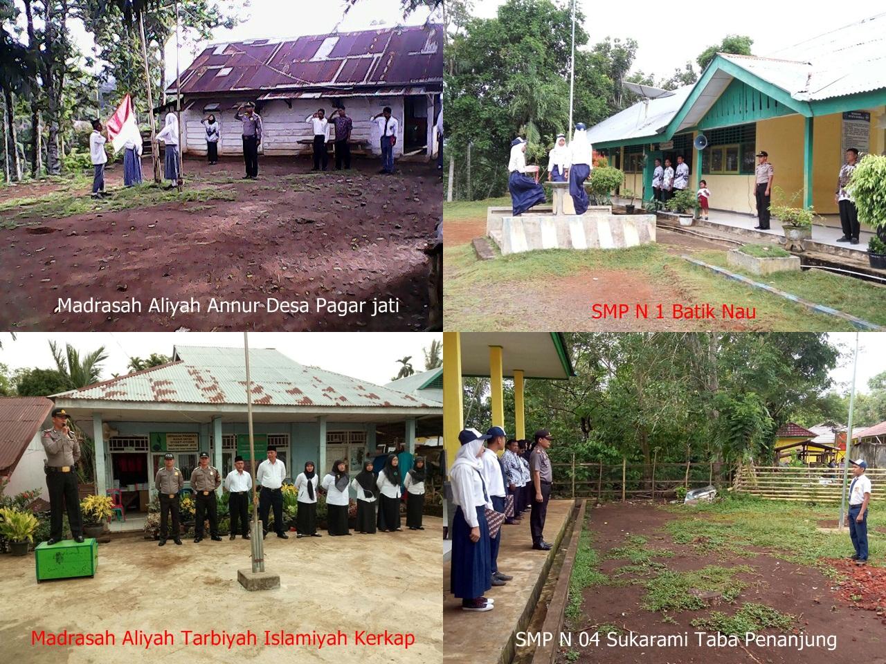 Kapolsek Berikan Himbauan Kamtibmas Ke sekolah – Sekolah